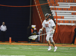 Asa Goldstock, freshman goalie, looks to guide No. 2 seed Syracuse in the ACC tournament